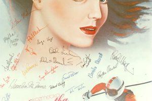 Plakat s potpisima svih nositelja medalja na ZOI 84 Sarajevo
